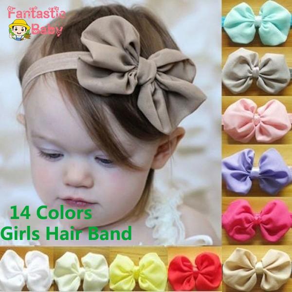 Baby Girl Headbands Cute Elastic Kids Toddler Hairbands Bowkot Hairwear Head Band