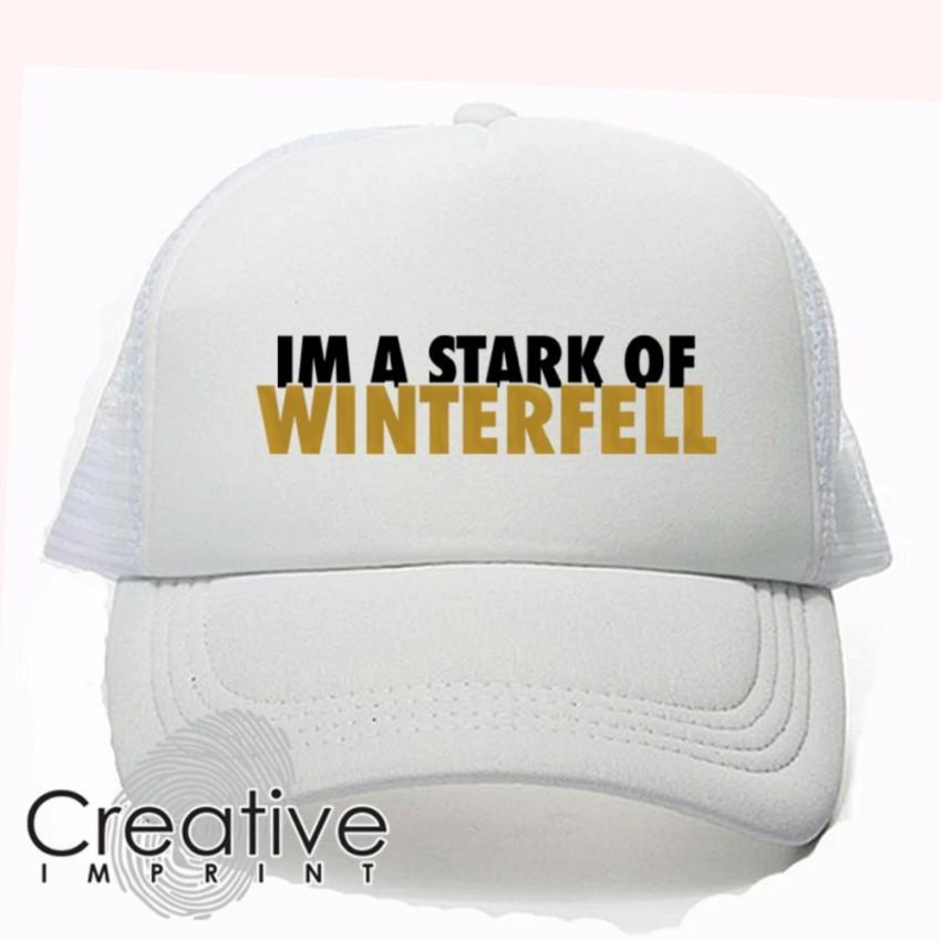 cc1b7ddb608 House Stark Sigil Gold Game of Thrones Baseball Cap (Black)