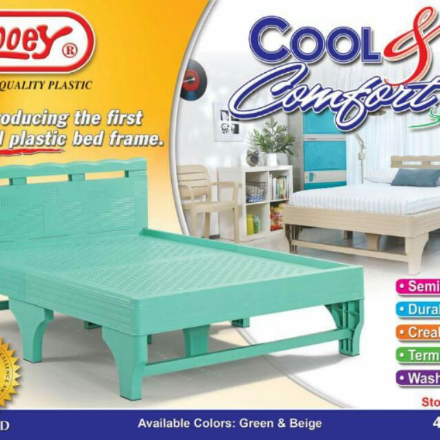 zooey plastic bedframe and monobloc chairs shopee philippines