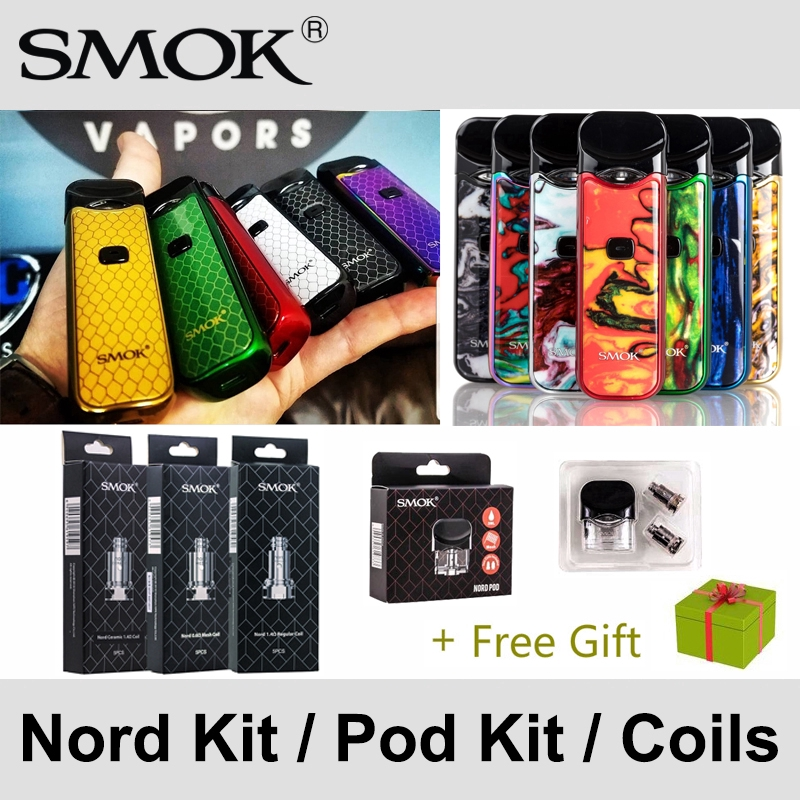 Smok Vape NORD Kit Nord pod 5 Pcs/box occ 0 6ohm 1 4ohm Mesh Regular Ceramic