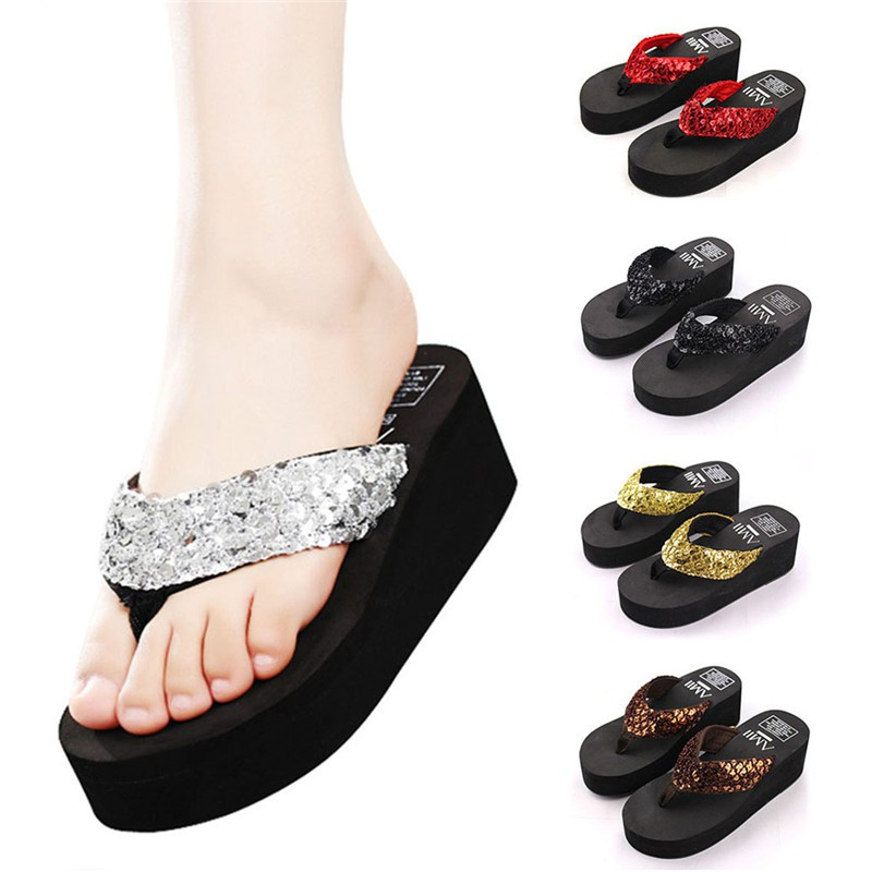 91451df56a2 Sandals Flip Flops Summer Beach Slipper Shoes platforms