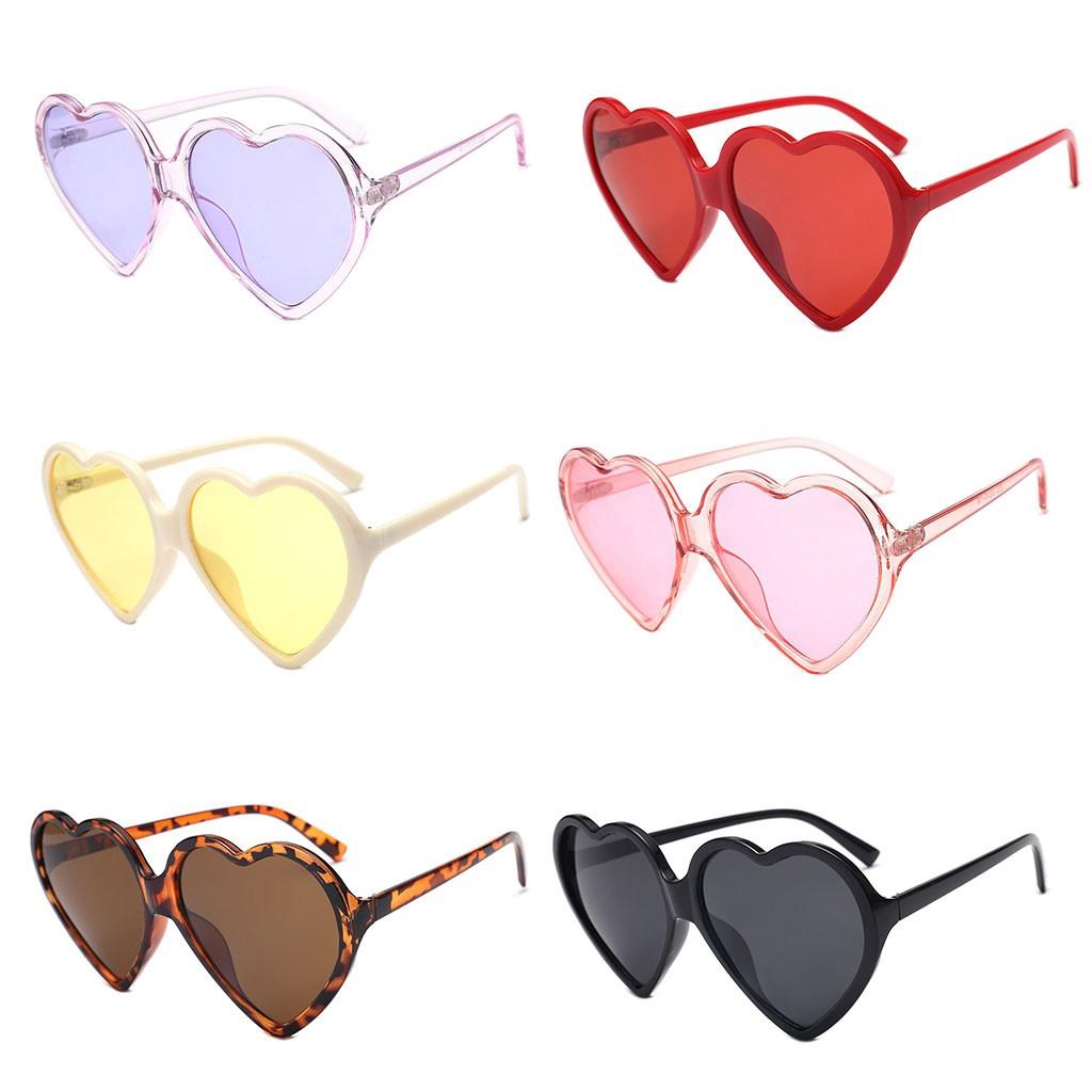 0aeefe1b5fa7 Fashion Women Love-Heart-Style Sunglasses Metal Frame
