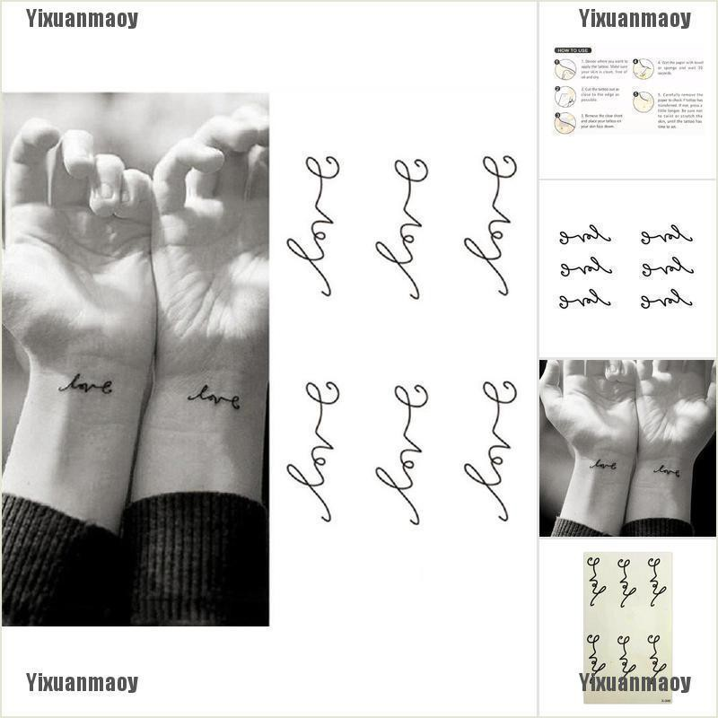 Yixuanmaoy Fashion Love Temporary Tattoos Sticker Love Letters Waterproof Tattoo Body Art Shopee Philippines