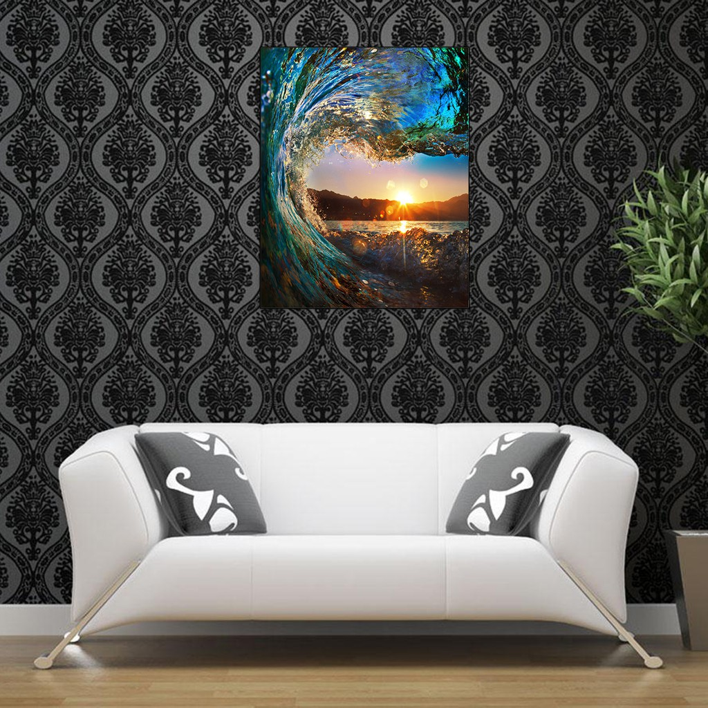 DIY Sunset Paint By Number Kit Digital Acrylic Oil Painting Art Wall Home Decor