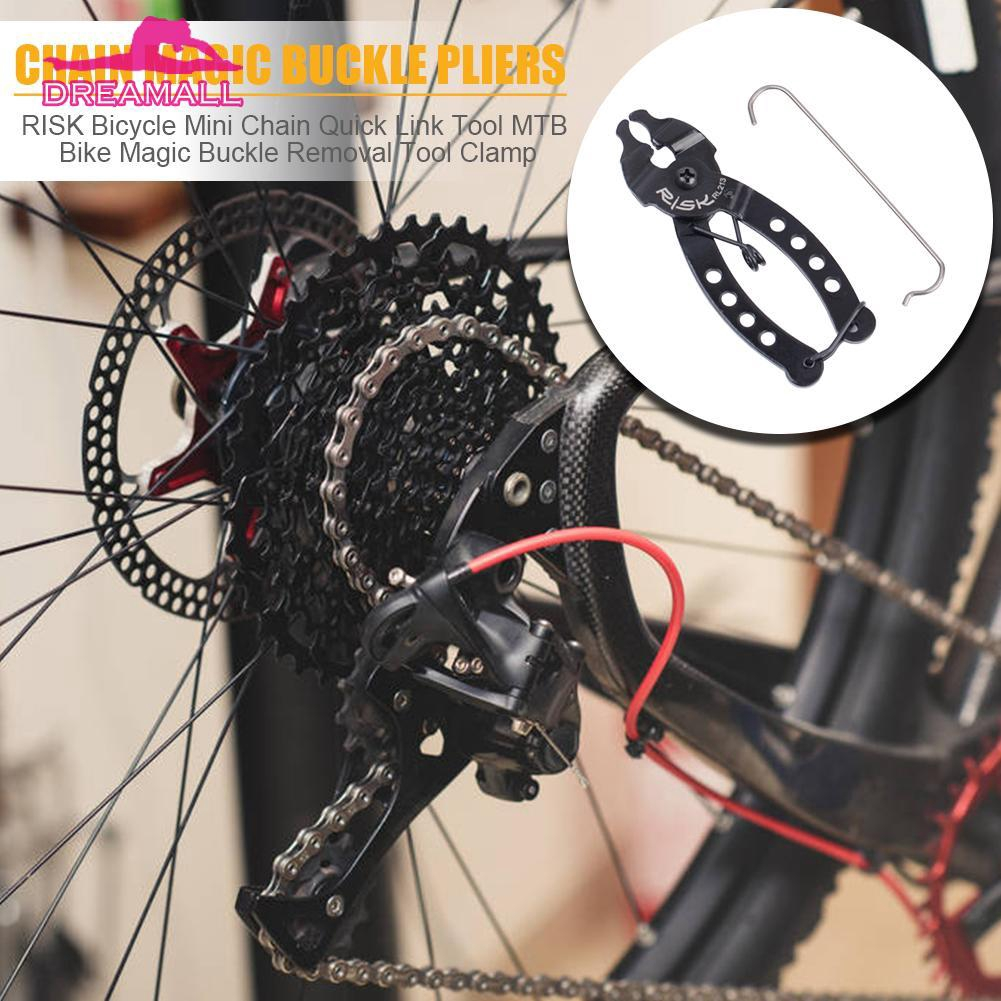 Bicycle Mini Chain Quick Pliers Link Clamp MTB Bike Magic Buckle Removal Tool