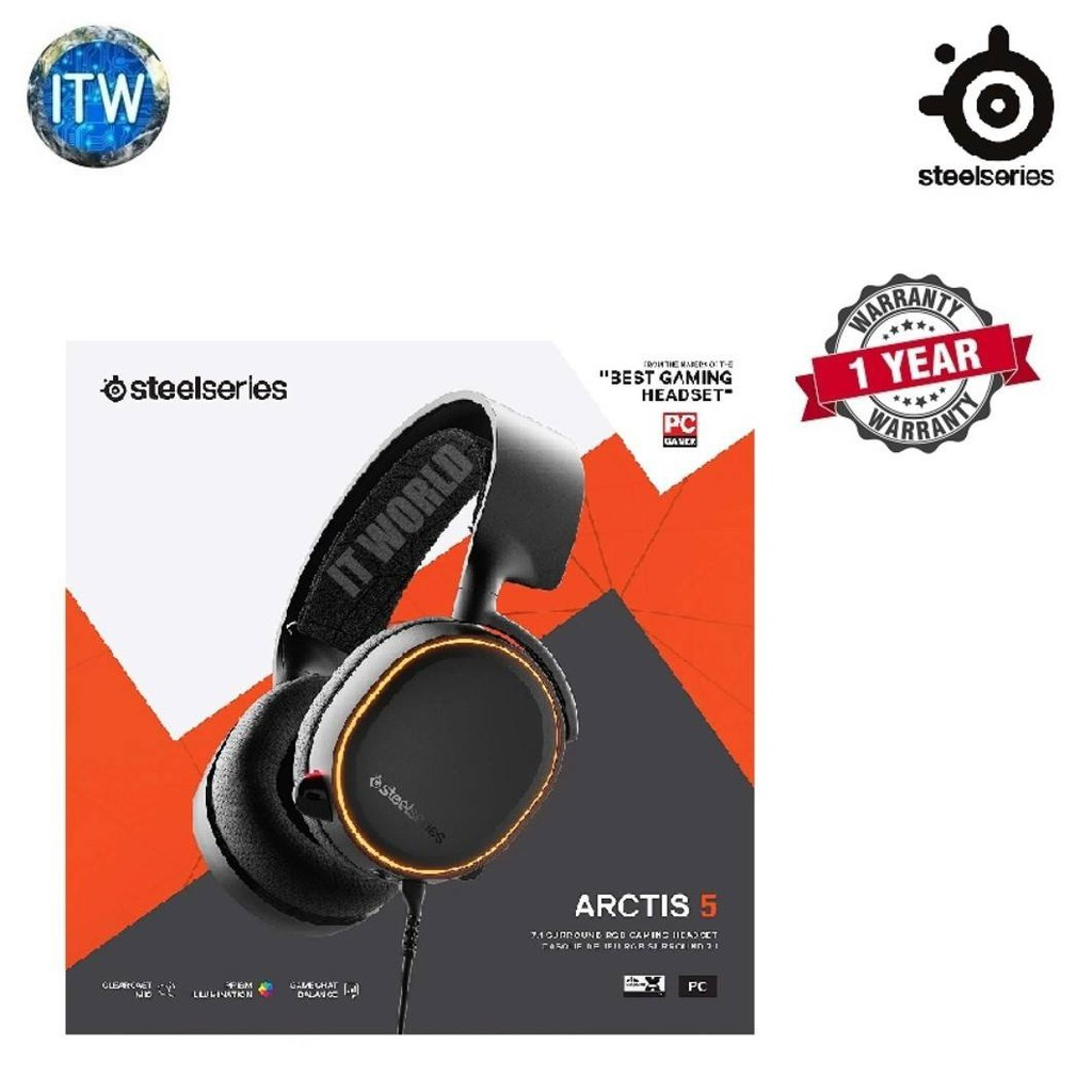 SteelSeries Arctis 5 Black 2019 Edition Gaming Headset