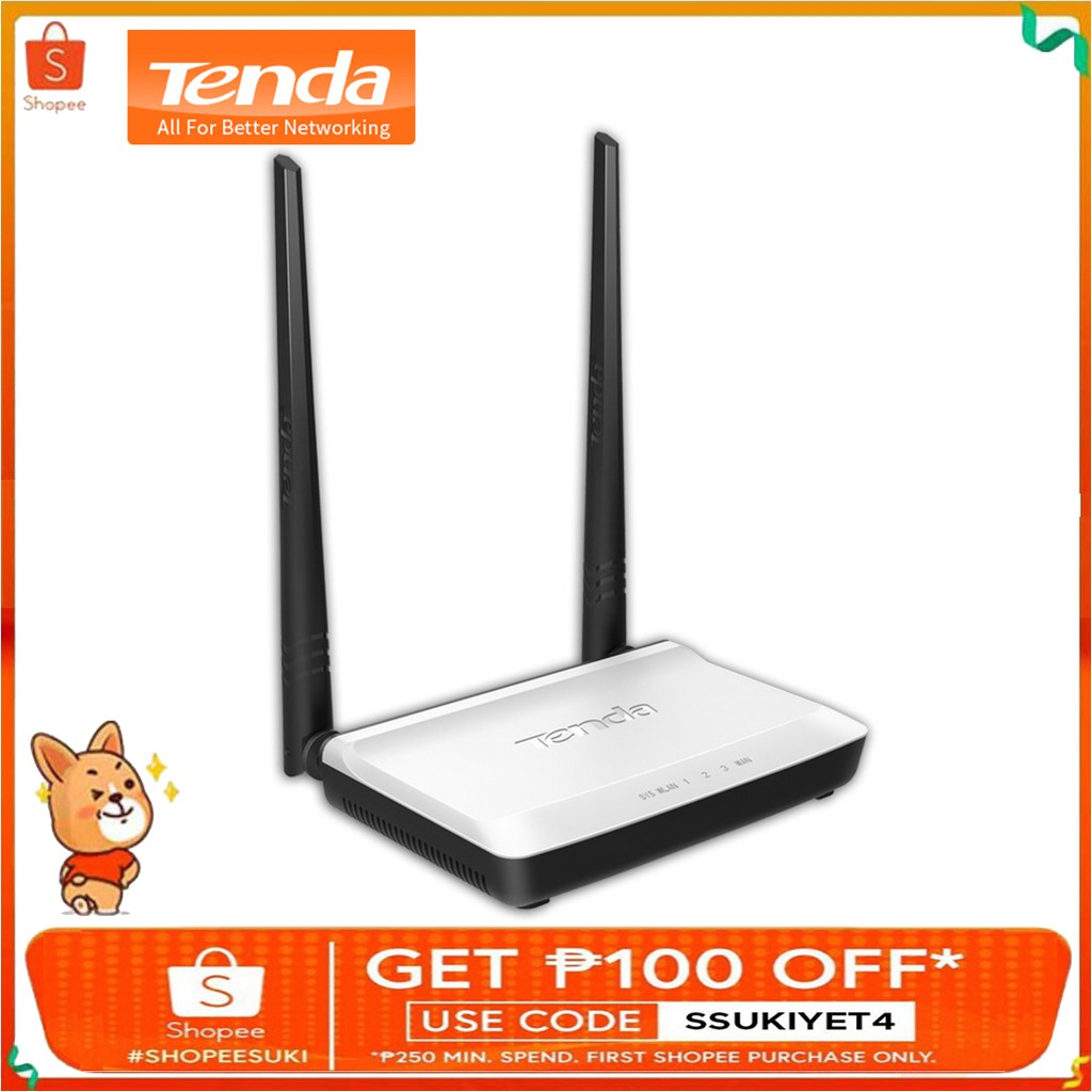 Tenda N301 Wireless N300 Easy Setup Router Shopee Philippines Wireles 300mbps 4port 2 Antena