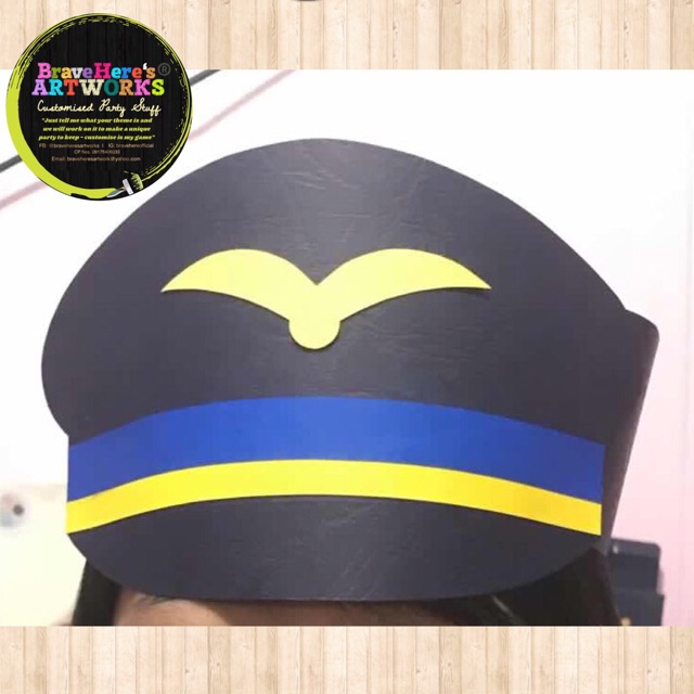 Per Pc Airplane Pilot Party Hat Free Size Shopee Philippines