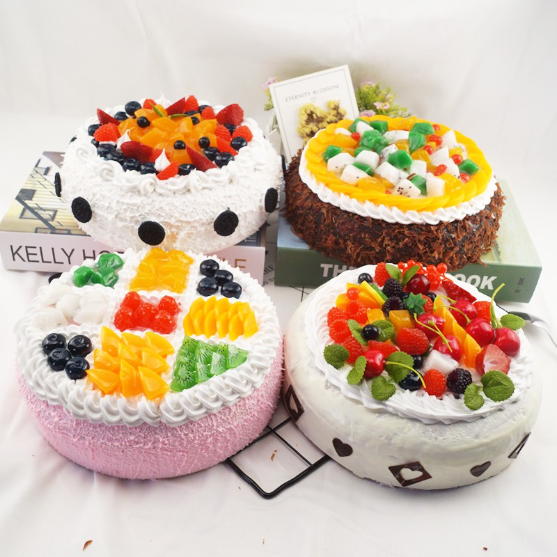 Surprising Sale Cake Model Fake Fruit Cake Plastic Birthday Cake Sample Personalised Birthday Cards Fashionlily Jamesorg