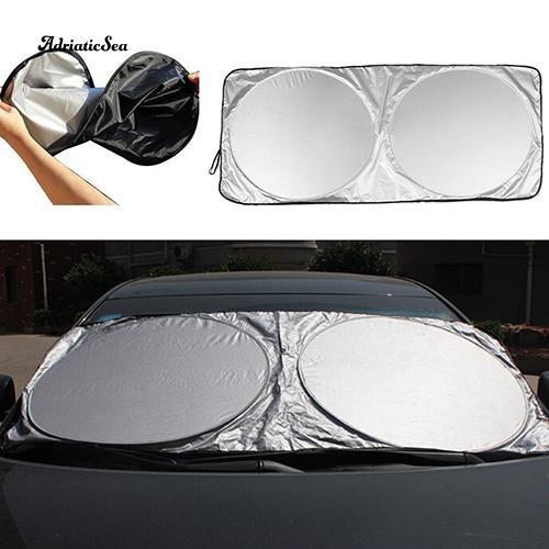 Folding Auto SUV Truck Car Front Window Sun Shade Visor Block Aluminum Cover