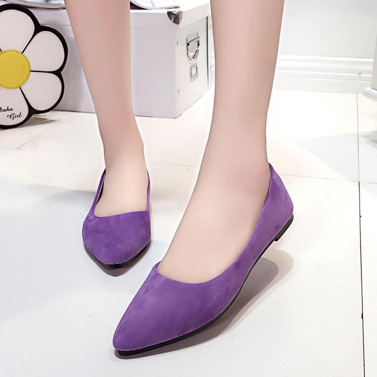 Plus Size Womens Shoes Fashion Square Toe Shallow Mouth
