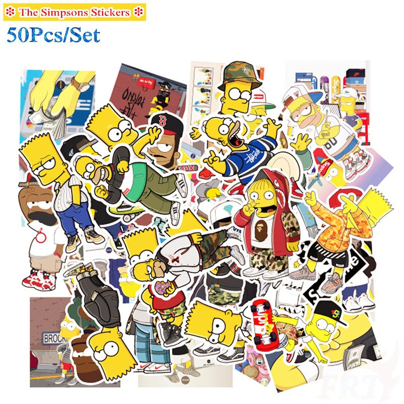 The Simpsons Series 03 Stickers 50pcs Set Luggage Laptop Skateboard Decals Doodle Stickers