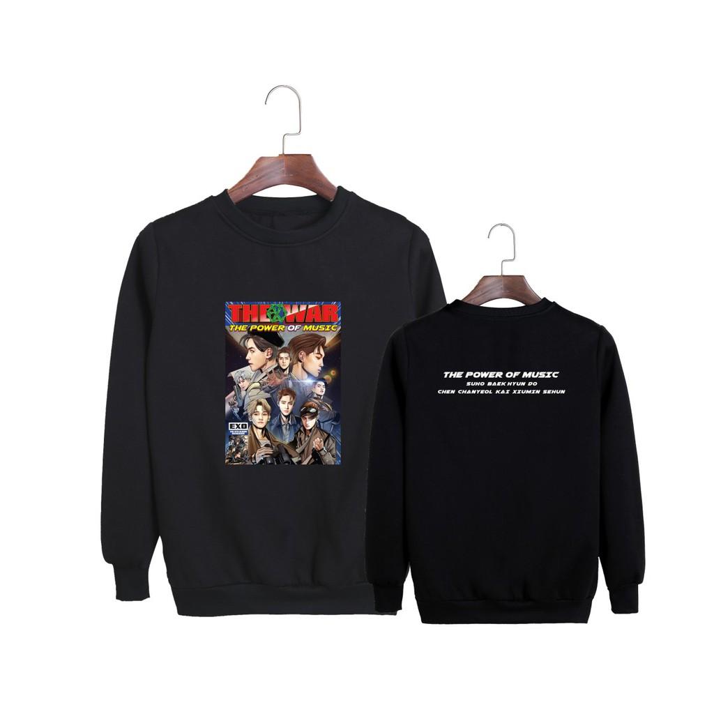 JN460 EXO 4nd Album The Power of Music Hip Hop Sweatshirt