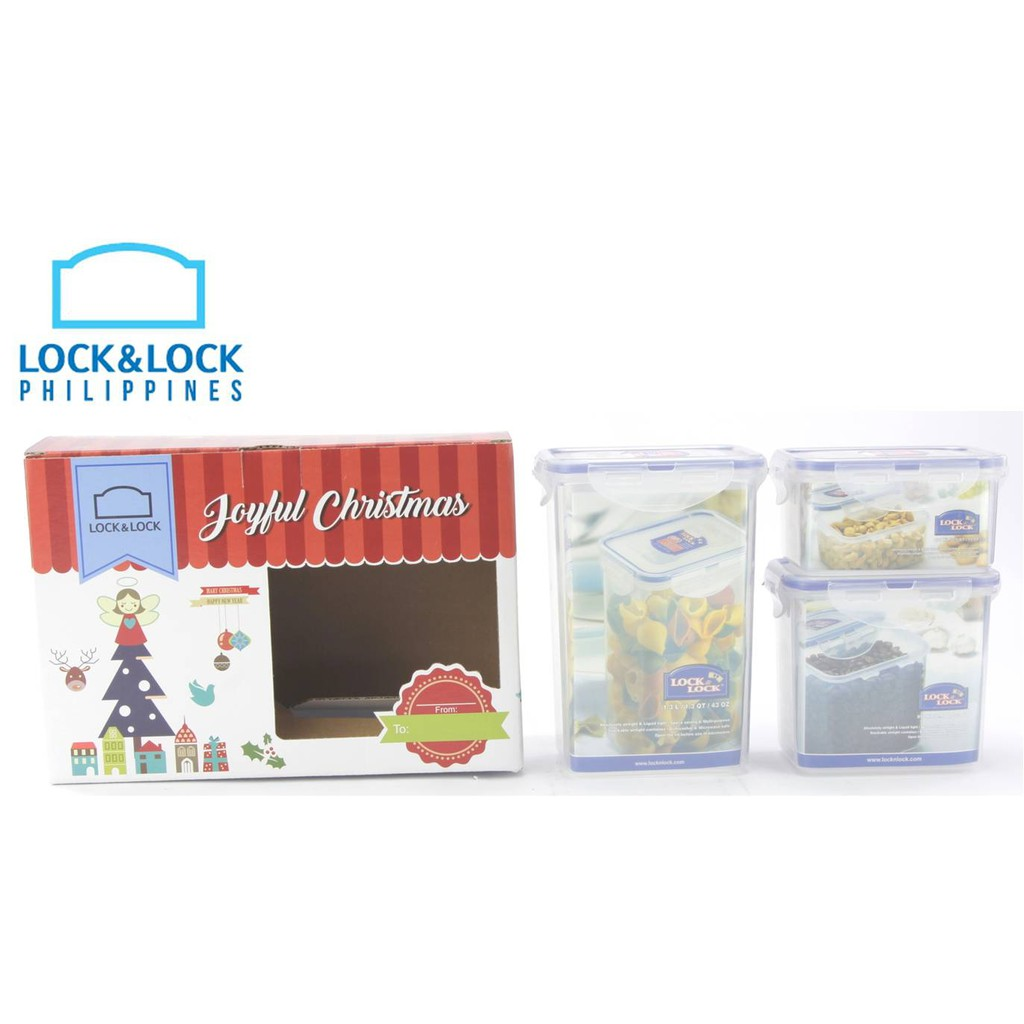 Lock and Lock HPT807TA Christmas Gift Set