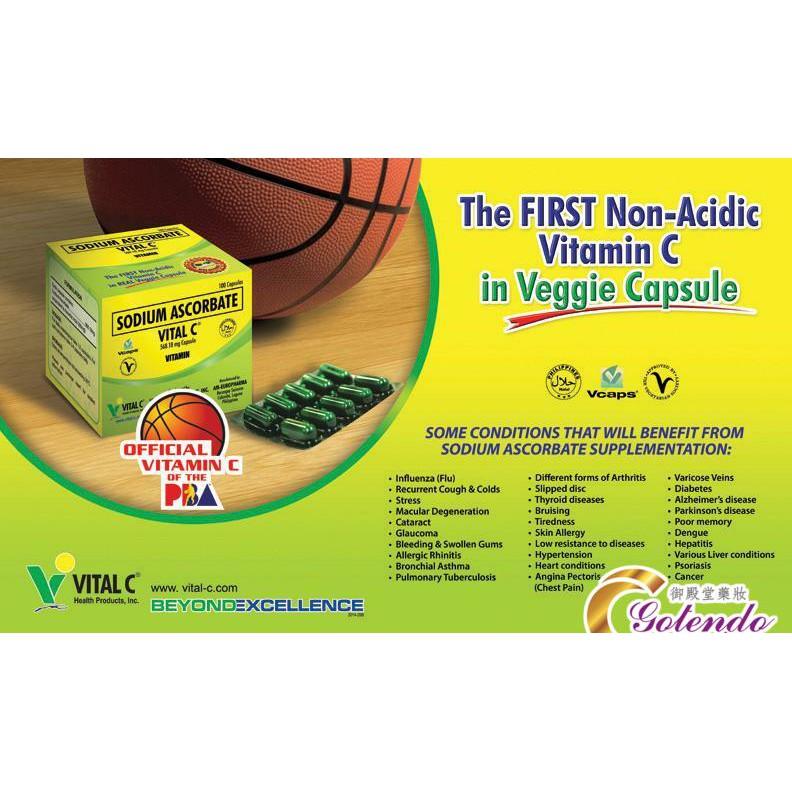 Vita C Sodium Ascorbate 568 18mg x 100 capsule