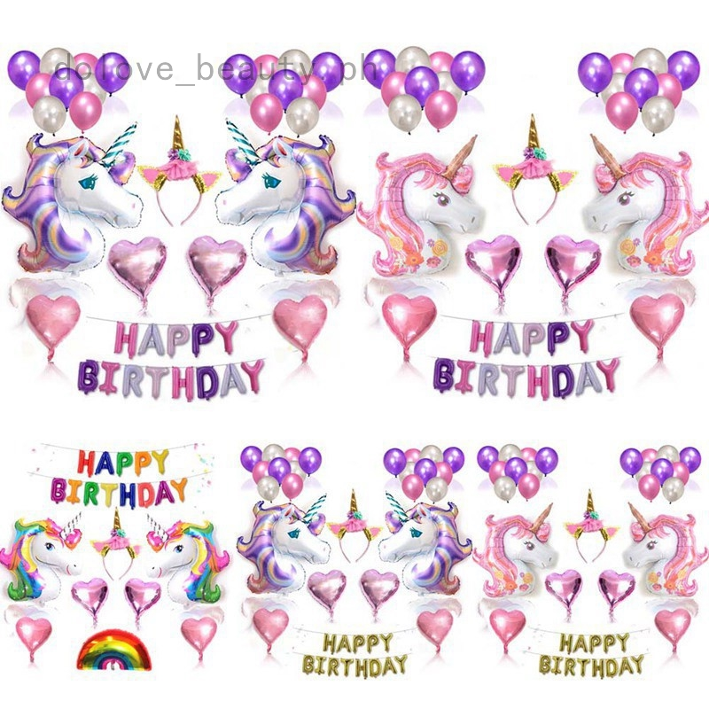 "12/"" Latex kids Happy birthday Party Kids Fantasy Unicorn Fairy tale Balloons"