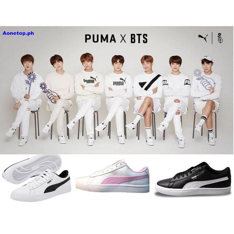 Original Korea BTS X Puma Court Star white men women sneaker ... 38d42da06