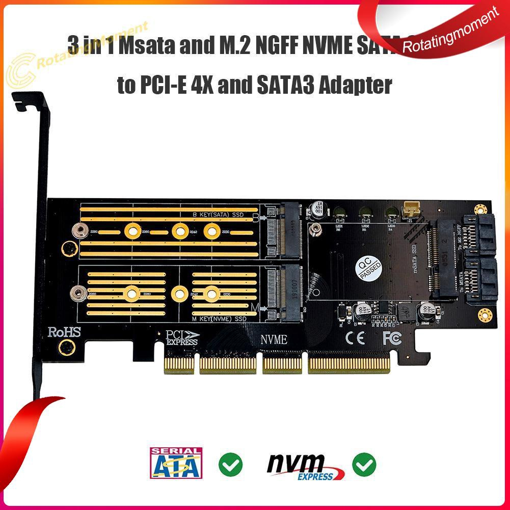 SSU PCI-e 1x to 16x Extender Riser Card with 4//6//15Pin Power Interface