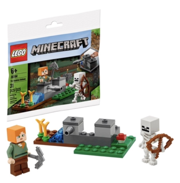 NEW SEALED LEGO Minecraft The Skeleton Defense 30394 Polybag Bag Minifigures