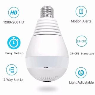 V380S Light Bulb WI-FI CCTV Panoramic Security Camera