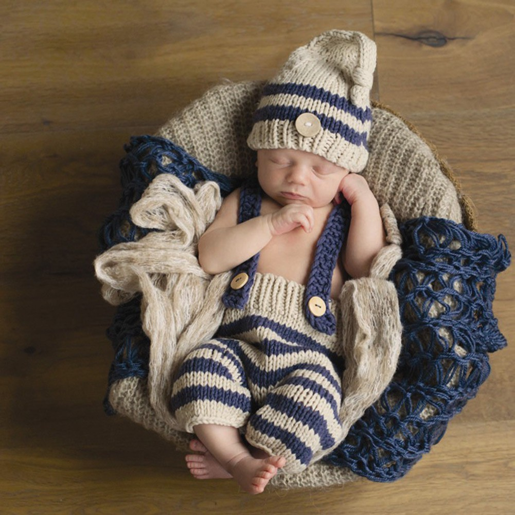 Workmanship In Newborn Photography Props Wraps Baby Crochet Knitted Sleeping Bag Photo Props Exquisite
