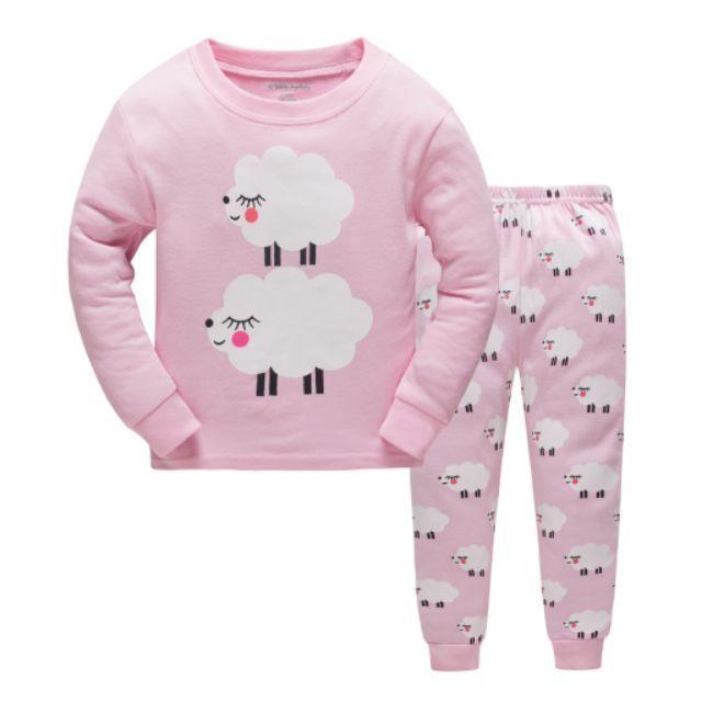 88d7cbf2c Unicorn Pink Baby Kids Girls Pajama Set Sleepwear