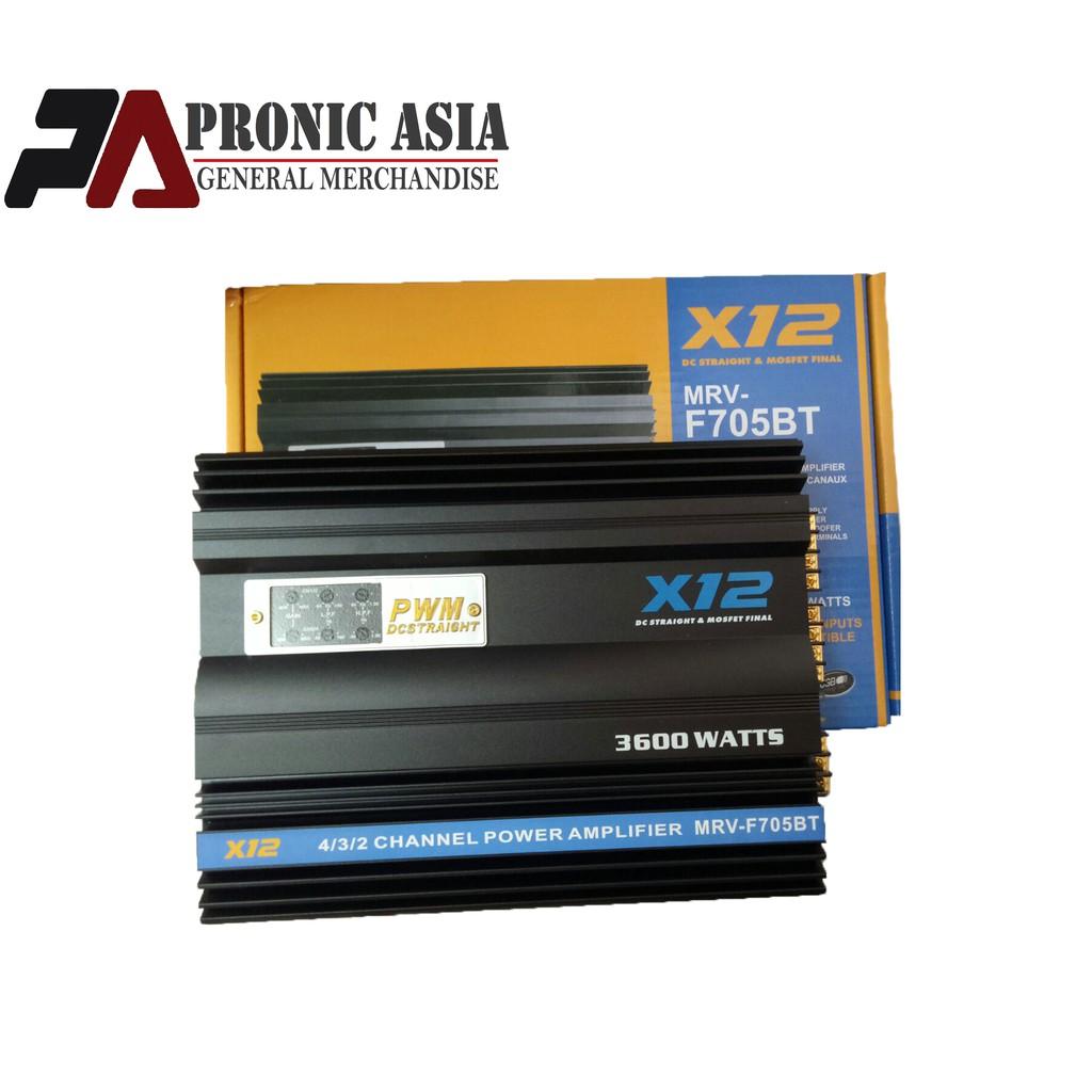 X12 MRV-F705BT 3600 Watts Power Amplifier w/ USB/Bluetooth