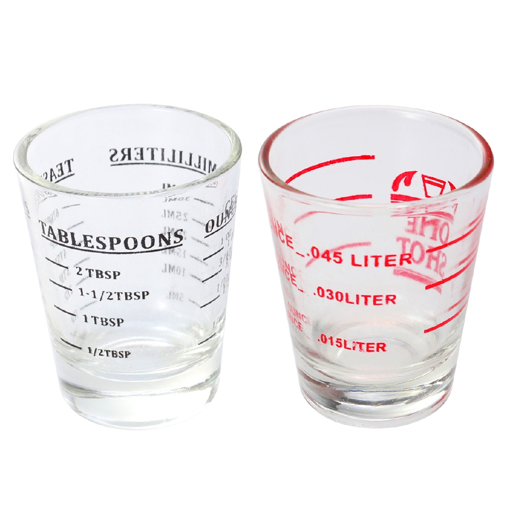 30ml Glass Measuring Cup Espresso Liquid Glass Ounce Cup With Scale Kitchen Measure Tool Supplies Shopee Philippines