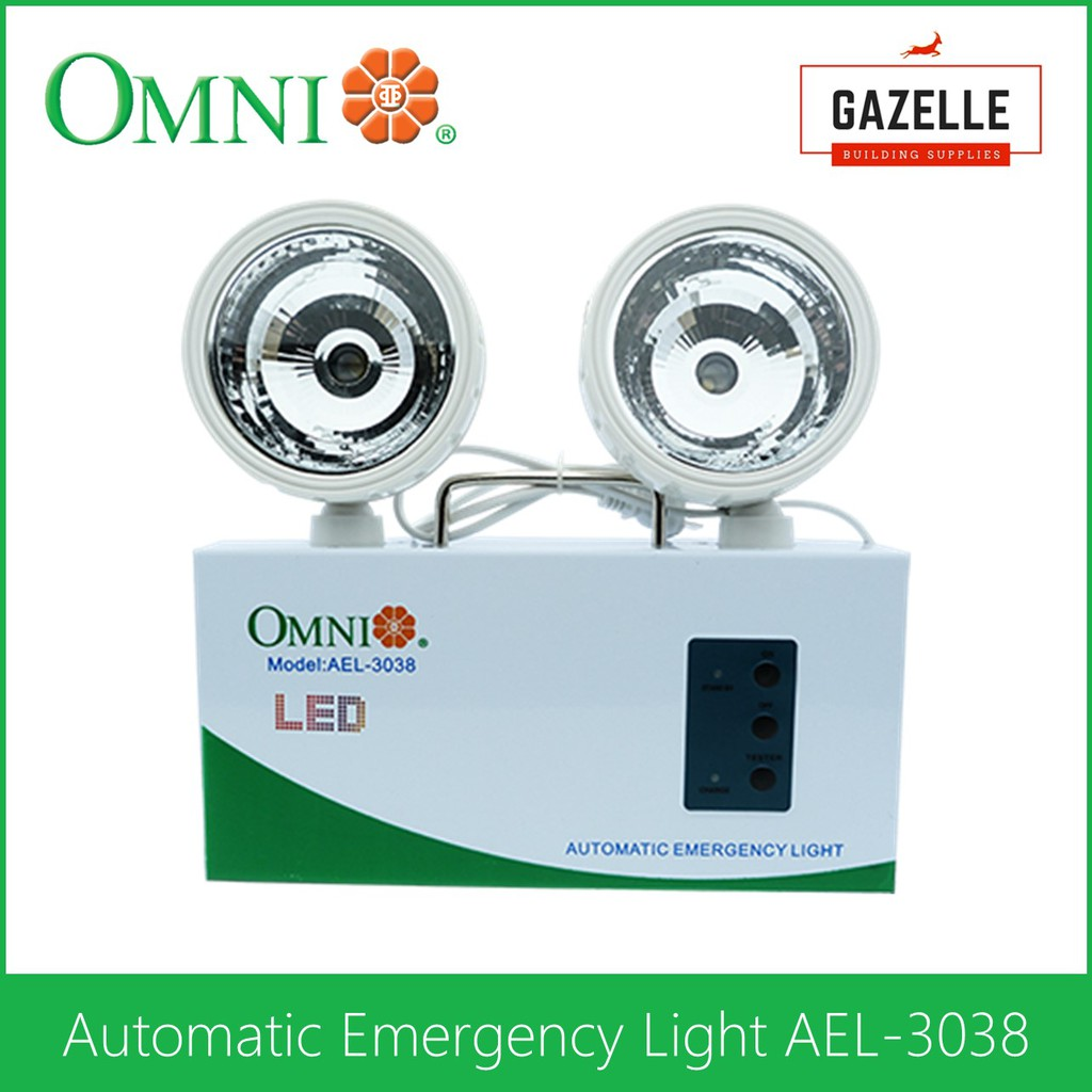 Omni Automatic Emergency Light Ael 3038 Shopee Philippines Low Cost Ligh