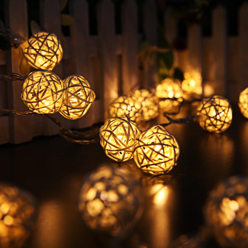 Globe Rattan Ball Fairy String Light