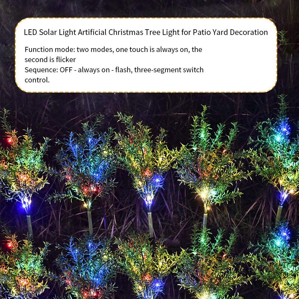 15leds Outdoor Waterproof Solar Power Colorful Simulation Christmas Tree Easy Install Garden Decoration Lawn Light Shopee Philippines