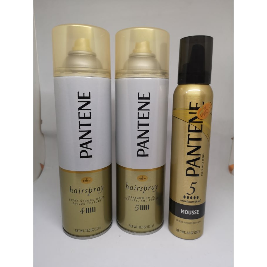 Pantene Hair Spray Hair Mousse Extra Strong Hold Builds Texture ...