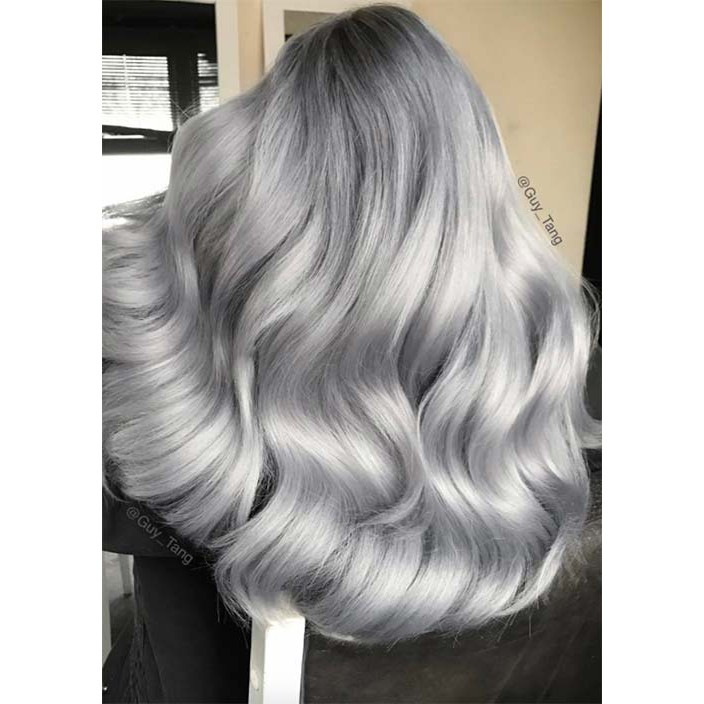 Bremod Hair Color 10 01 Silver Gray Shopee Philippines
