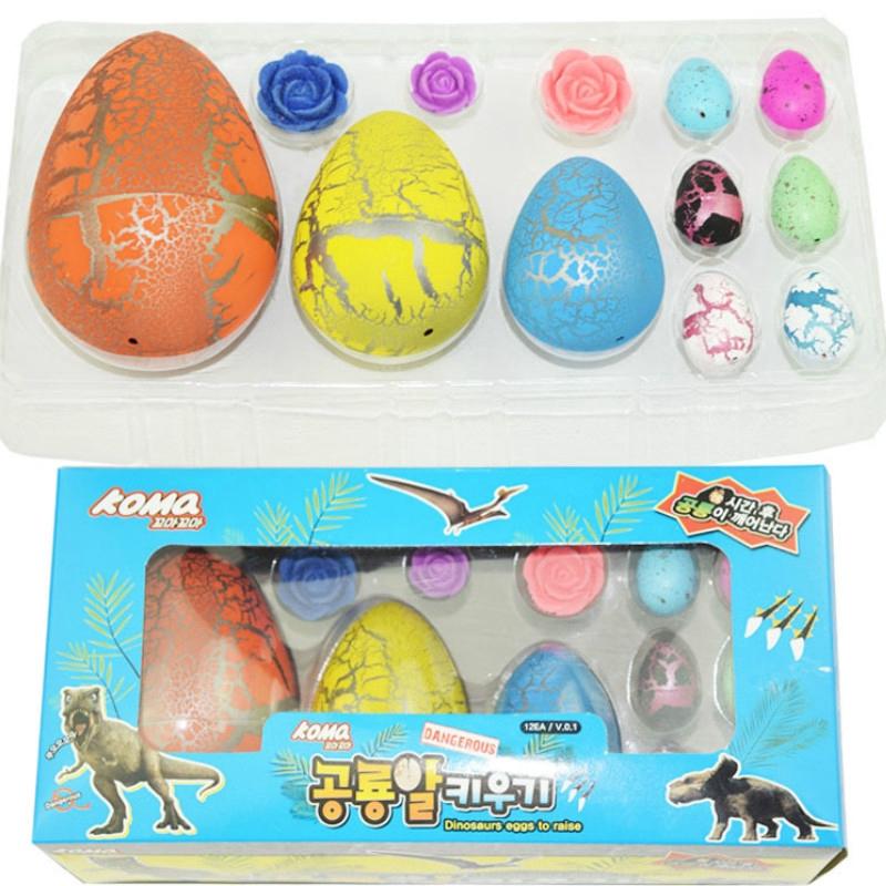 Korean Dinosaurs Eggs Set Soaked in Water Toys Surprise Box