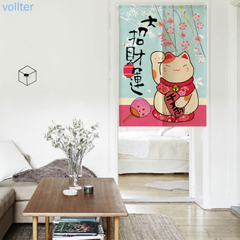 Japanese Style Noren Doorway Curtain Noren Door Curtain Tapestry Kitchen Living Room Divider Vollter Shopee Philippines
