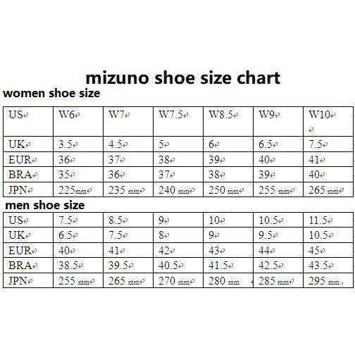 mizuno shoes size 39 for ladies