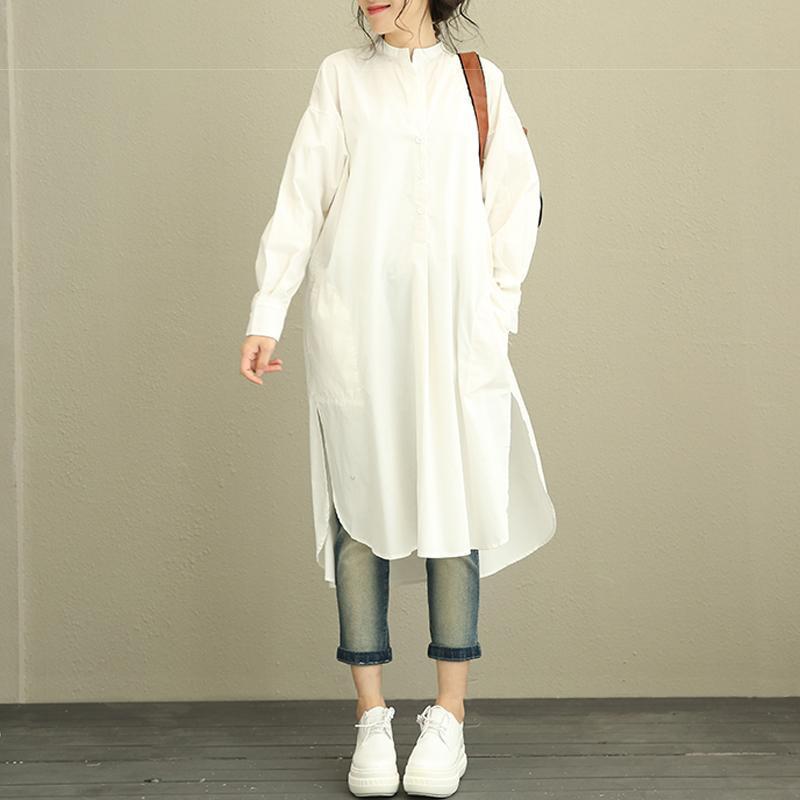 UK Women Long Sleeve Pockets Striped Patchwork Loose Shirt Dress Plus Size 10-24