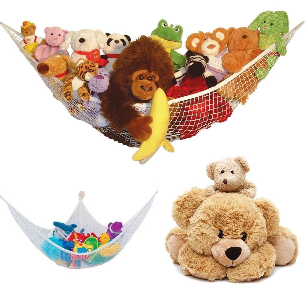 Large Hammock For Soft Toy Teddy Keep Baby//Childrens Bedroom Tidy Mesh Storage Ideal For Nursery Play Corner Hammock