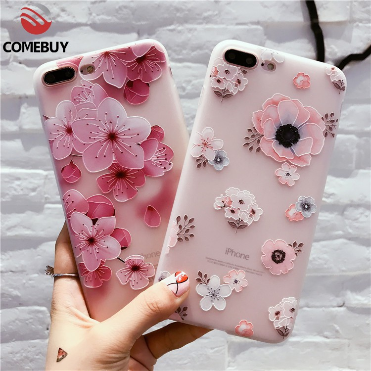 big sale 73e09 188bd Case Vivo V5S 1713 V5 Lite V7 V9 Plus Y81Y81i Y85 3D Floral