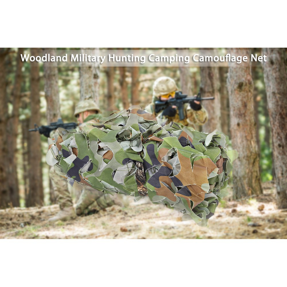 Woodland Camouflage Military Car Cover Hunting Camping Tent Net 2 X 2M 3M 4M