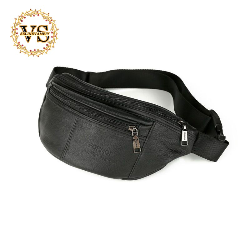 newest running shoes shop for newest FONMOR Phone Pouch Bags Travel Male Small Waist Bag Leather Pouch