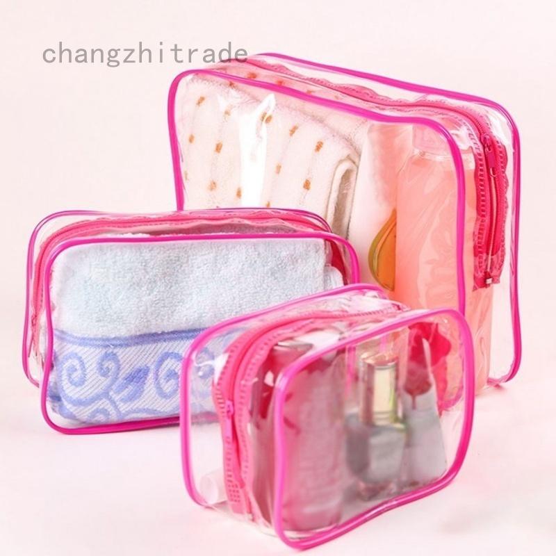 Best 1Pc Empty Transparent Travel Bag Set Airport Cosmetic ...