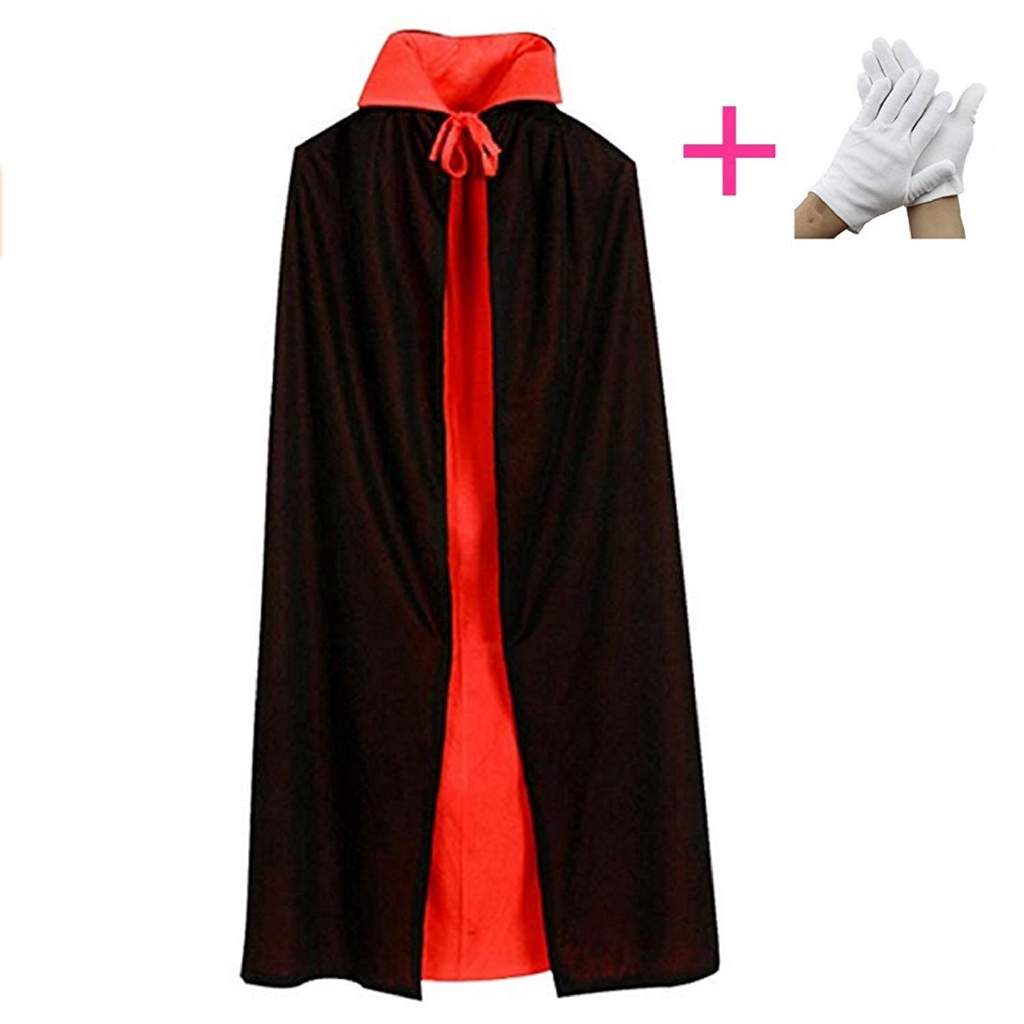 170fa9af43 Black Adult Cape Cloak Hooded Cosplay Costume Halloween Fancy Coats Nice  Gifts Z
