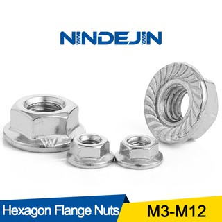 Color : 304 stainless steel, Size : M8 10pcs Screws 10//25//50//55pcs Stainless Steel Hexagon Flange Nut M3 M4 M5 M6 M8 M10 M12 Zinc Plated Carbon Steel Flange Nut DIN6923 Nails Nuts