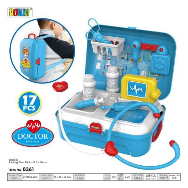 Play set doctor Back Pack Boy And Girl