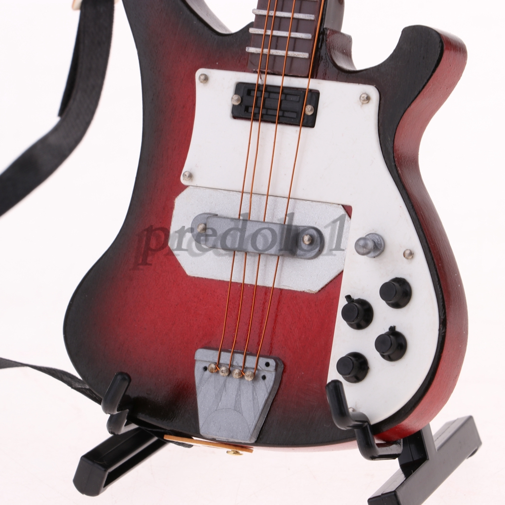"""1//6 Black Electric Bass Guitar Solider Figure Accessory For 12/"""" Toy Doll Model"""