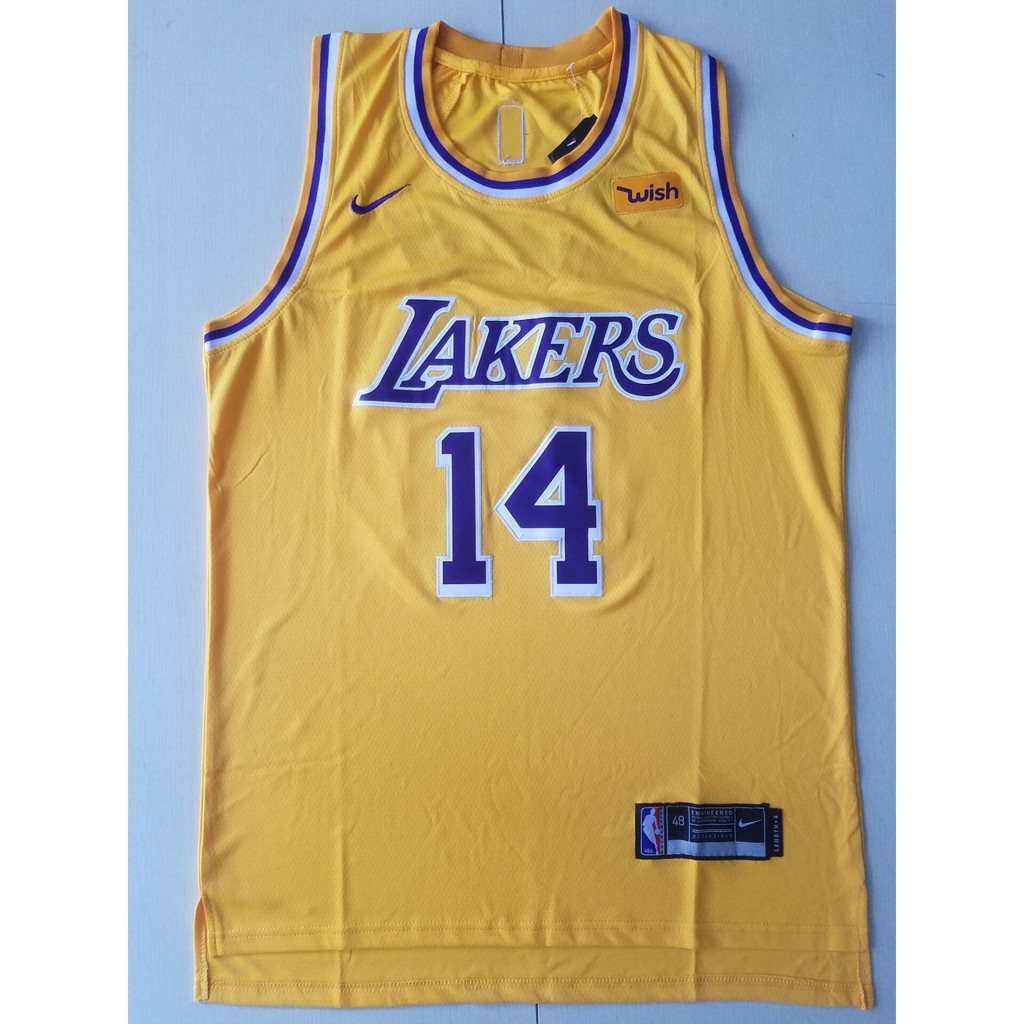 release date 29017 1e932 NBA 17-18 season L.A. Lakers #14 INGRAM basketball jerseys TOP YELLOW