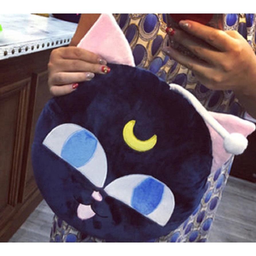 """Anime Sailor Moon Pet Cat Luna Plush ball 13/"""" Beads Cushion Pillow Toys Gifts"""
