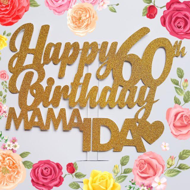 Astonishing Happy 60Th Birthday Cake Topper Shopee Philippines Funny Birthday Cards Online Alyptdamsfinfo