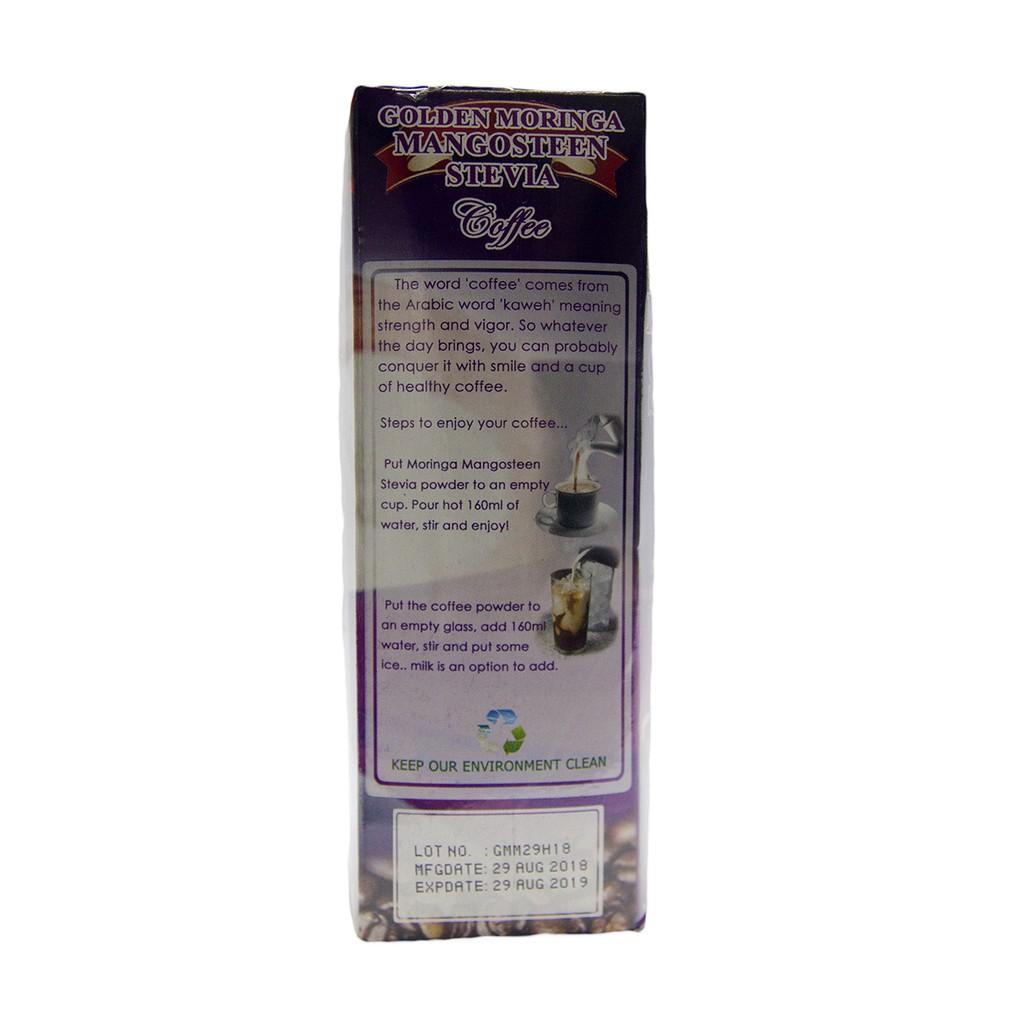 Golden Moringa Mangosteen Stevia Coffee Sugar-Free | Shopee